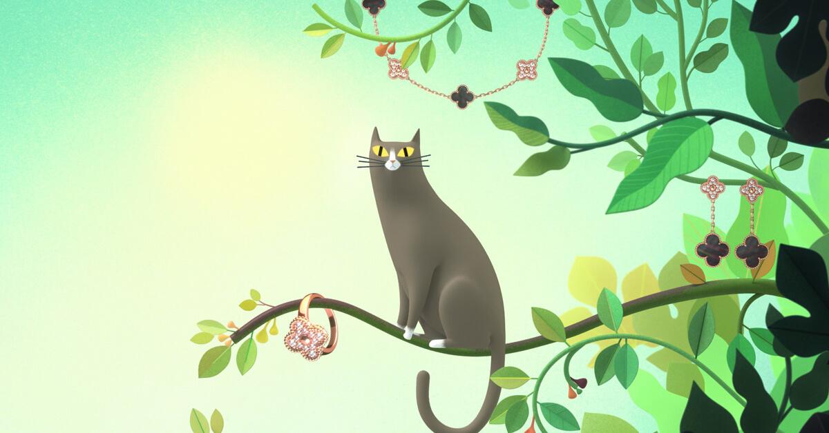 1968到2018,梵克雅寶經典幸運四葉慶50週年!聯手藝術家導演創作超可愛的動畫!