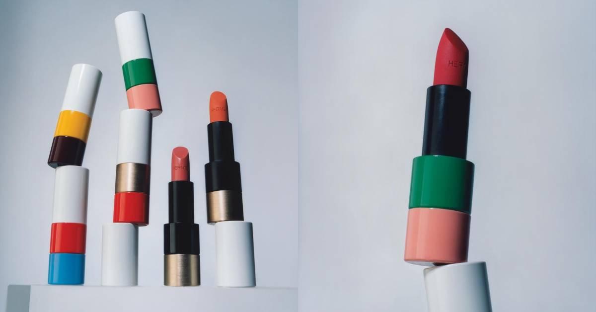 Hermès在183年後首個彩妝系列問世!24色唇膏、高彩度積木外型,立刻列入年度必收