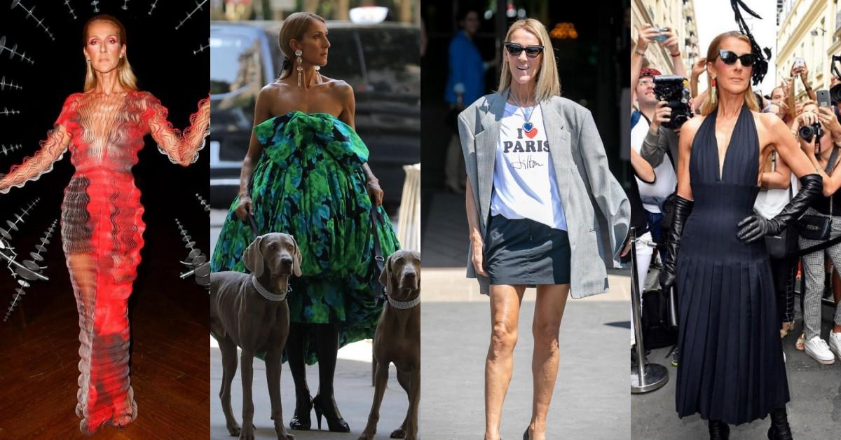 席琳狄翁51歲還是時尚霸主!高級訂製服遛狗、泳衣上街,7套超狂穿搭搶版面