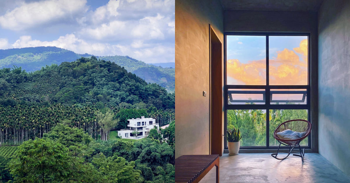 日月潭民宿推薦「積木家」,隱身山林中的清水模建築,質感設計結合泰式度假風好評如潮!
