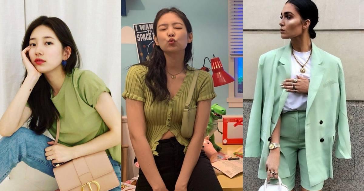 2020初春穿搭「綠色系」將成主流?秀智、BLACKPINK Jennie酪梨綠穿搭,穿上它比大地色更顯白