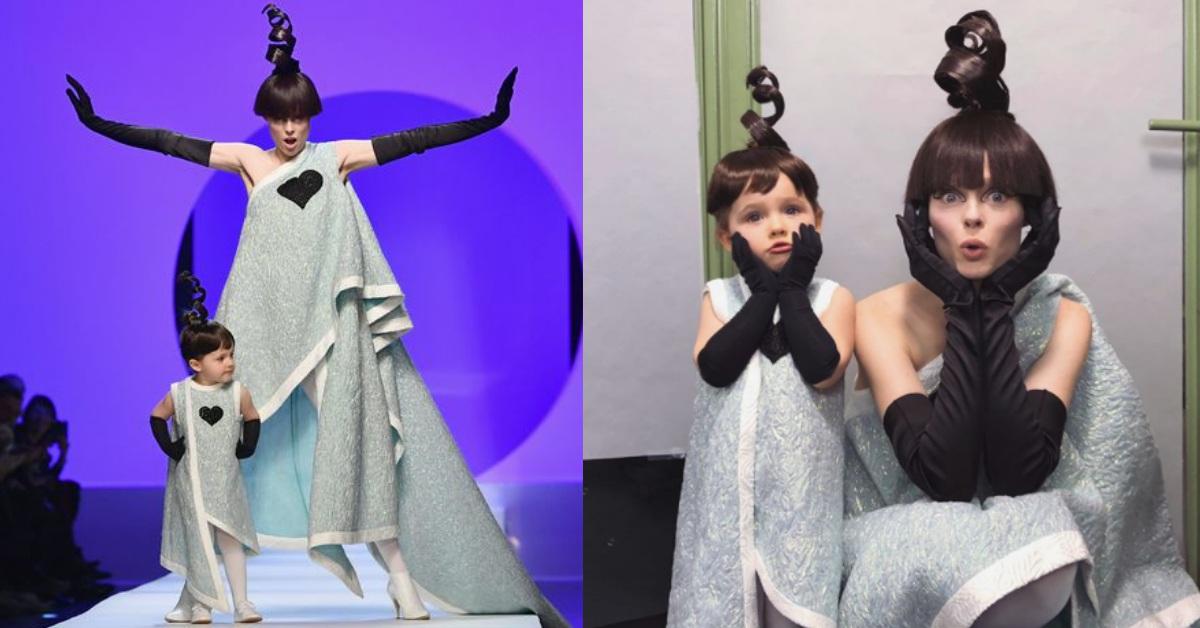 才2歲就走上伸展台!超模Coco Rocha跟女兒搞怪同台走秀提早接棒?