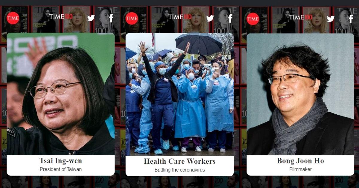 """2020時代雜誌「風雲人物」出爐!蔡英文、 《寄生上流》導演、全球防疫人員都上榜,第一名竟然頒給""""他""""!"""