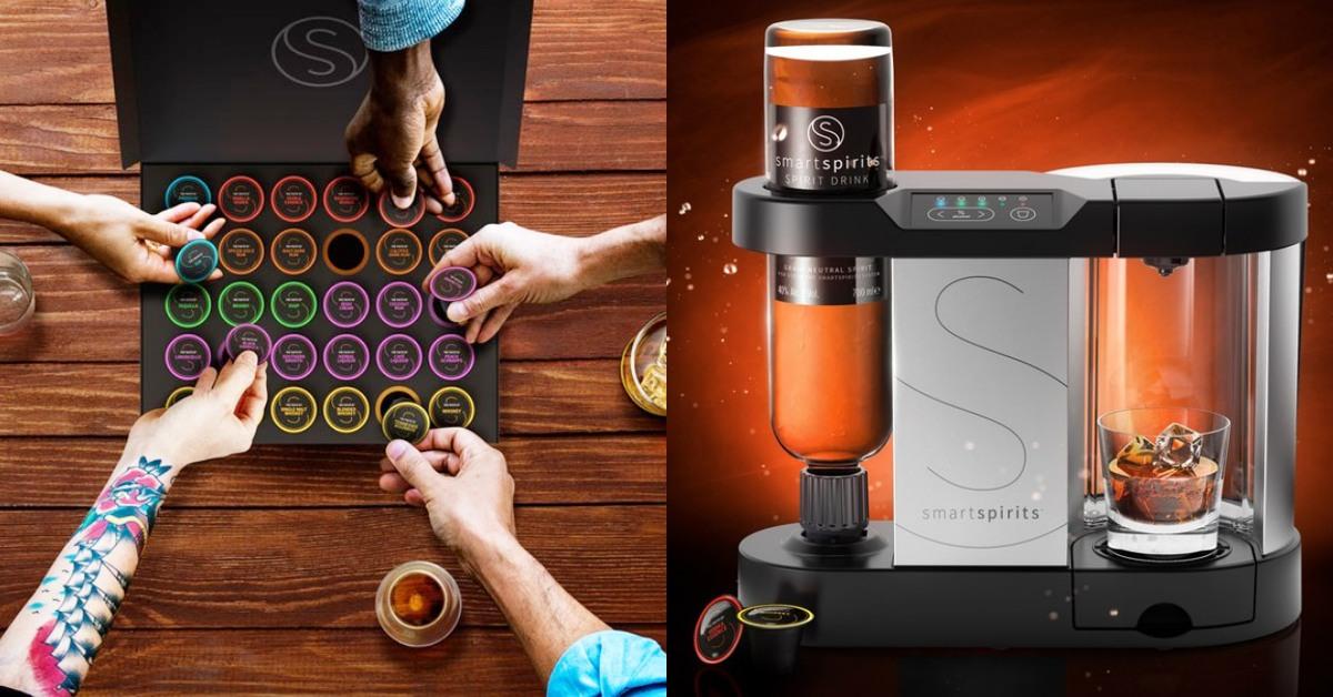 在家就能當酒鬼!「膠囊烈酒機」在家就能喝到超過30種風味,濃淡自己選!
