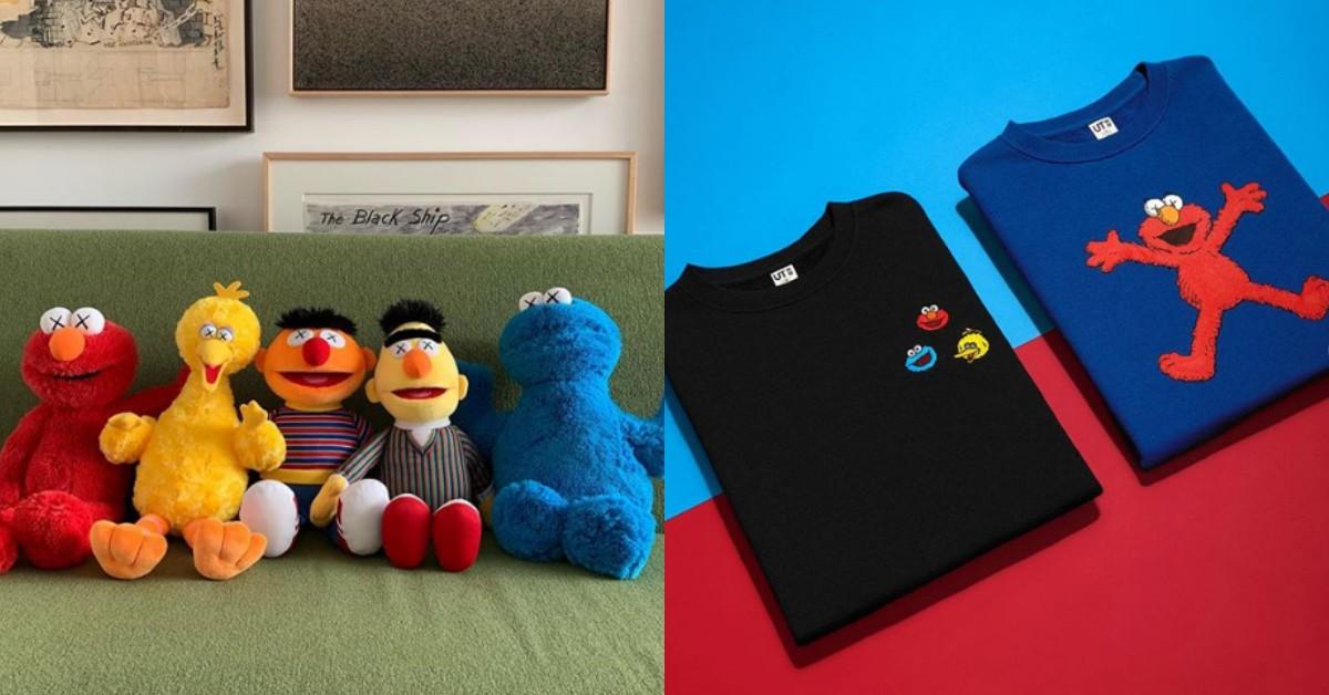 Uniqlo x KAWS x 芝麻街最強聯名來了!除了UT,還有爆可愛的Elmo