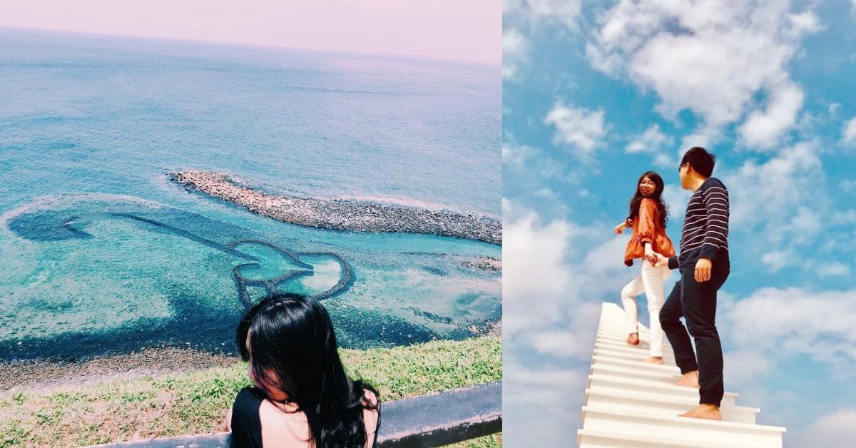 想拍美照不用飛越南!衝一波澎湖「天堂階梯」全新夢幻打卡點