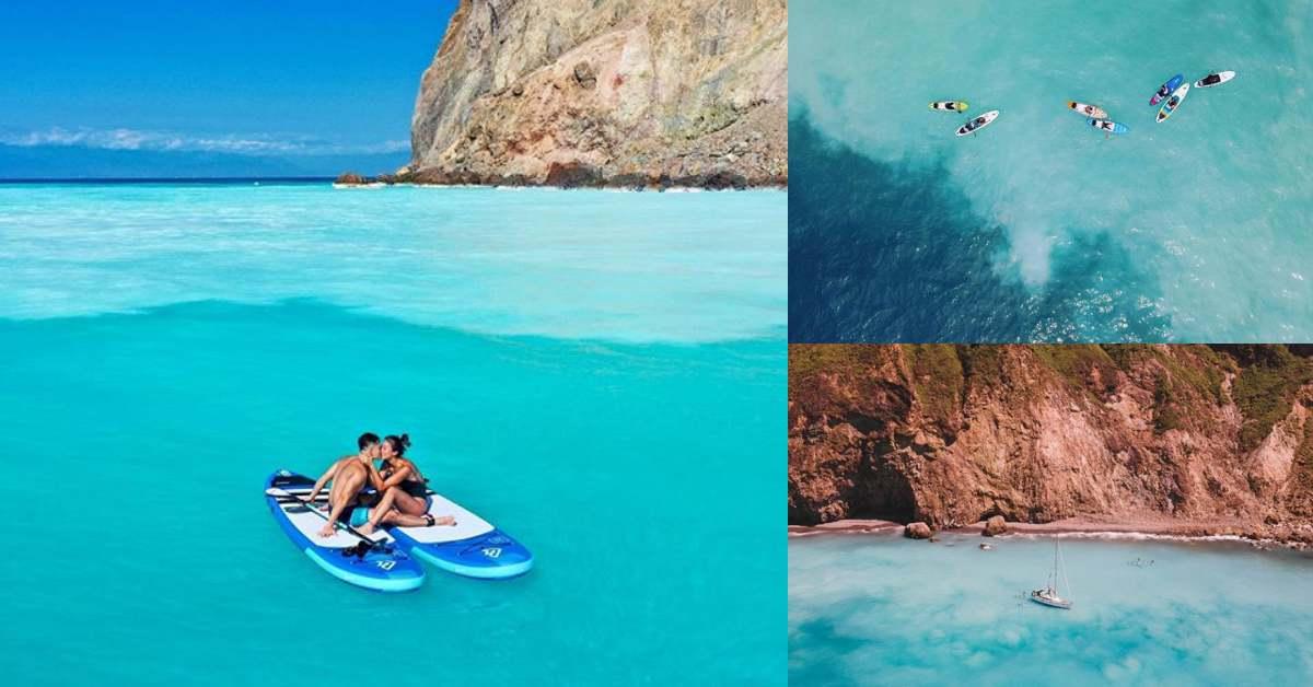 登不上龜山島也沒關係!台版帛琉「牛奶海」漸層顏色超夢幻!SUP立槳+衝浪首選位置!
