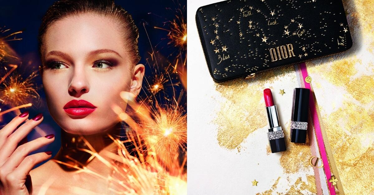 可以許願的彩妝!Dior聖誕彩妝把祝福放進唇膏寶盒裡,幸運星浮雕讓人捨不得用啊!