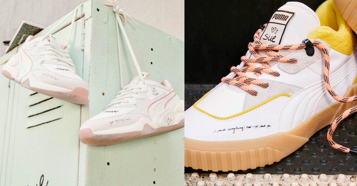 Puma新款「粉紅牛奶糖」配色老爹鞋!手繪塗鴉感要帥氣、可愛都滿分