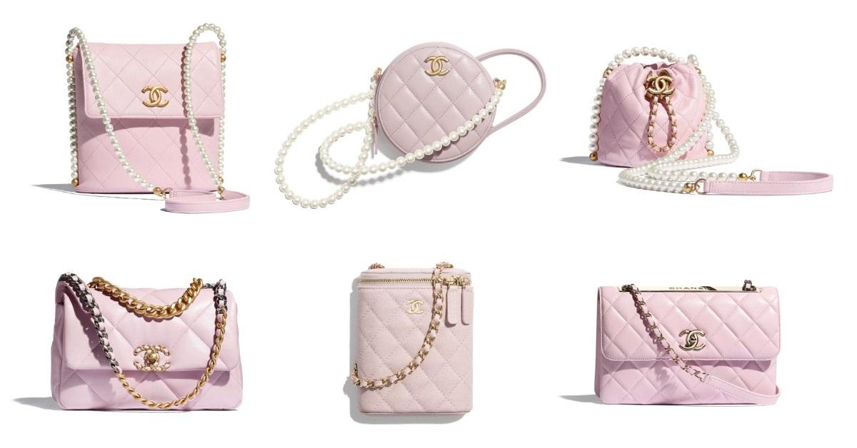 2021年Chanel春夏包包「寶寶粉」推薦這8款!水桶包、圓餅包 、零錢包 .....19口蓋包有錢不一定買的到