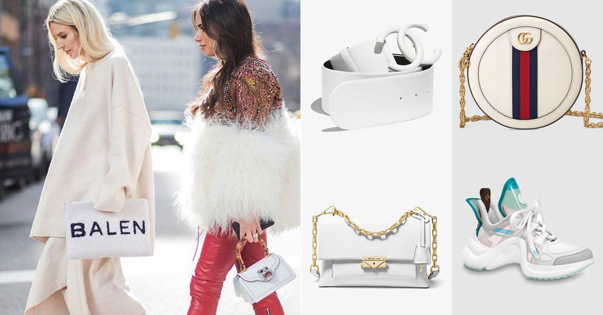 誰說白色會顯胖?秋冬就是要換上熱牛奶白!LV、Chanel、Gucci...8款單品推薦