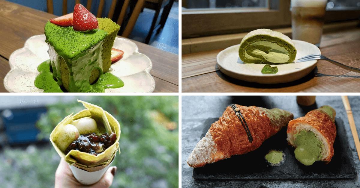 抹茶的華麗變身!這 5 家熱門抹茶甜點 無論是夾在可頌、蛋糕裡都好吃到讓人融化