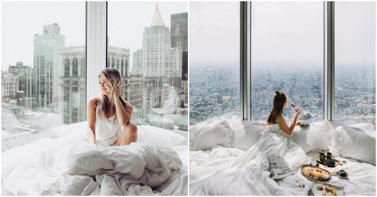 拉開窗簾就能眺望城市美景!香港、日本、紐約的絕美「落地窗房間」完整你的旅程