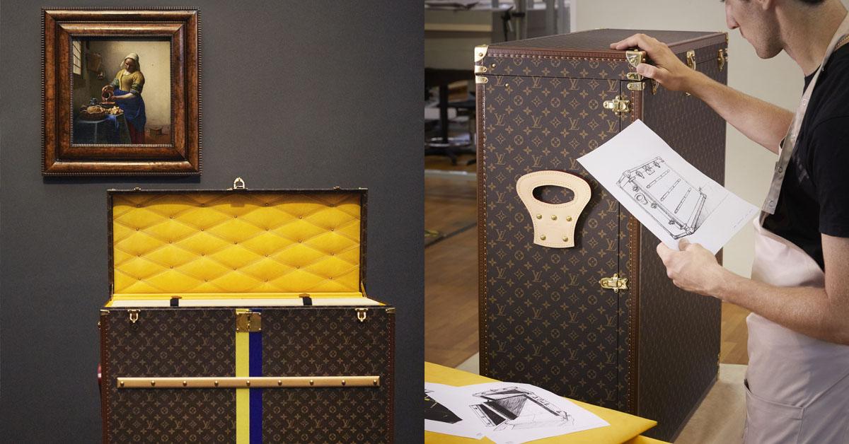 價值連城的《倒牛奶的女孩》遠從荷蘭到日本,當然要得動用LV訂製行李箱安全護送!