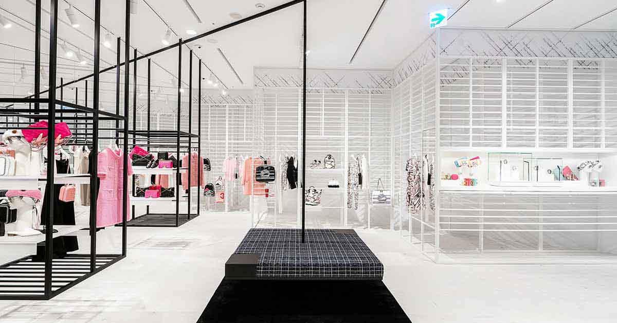 (6) 信義新光A9香奈兒限時概念店獨步全球曝光,從裡到外的裝設,有別於一般百貨中的品牌專賣店。