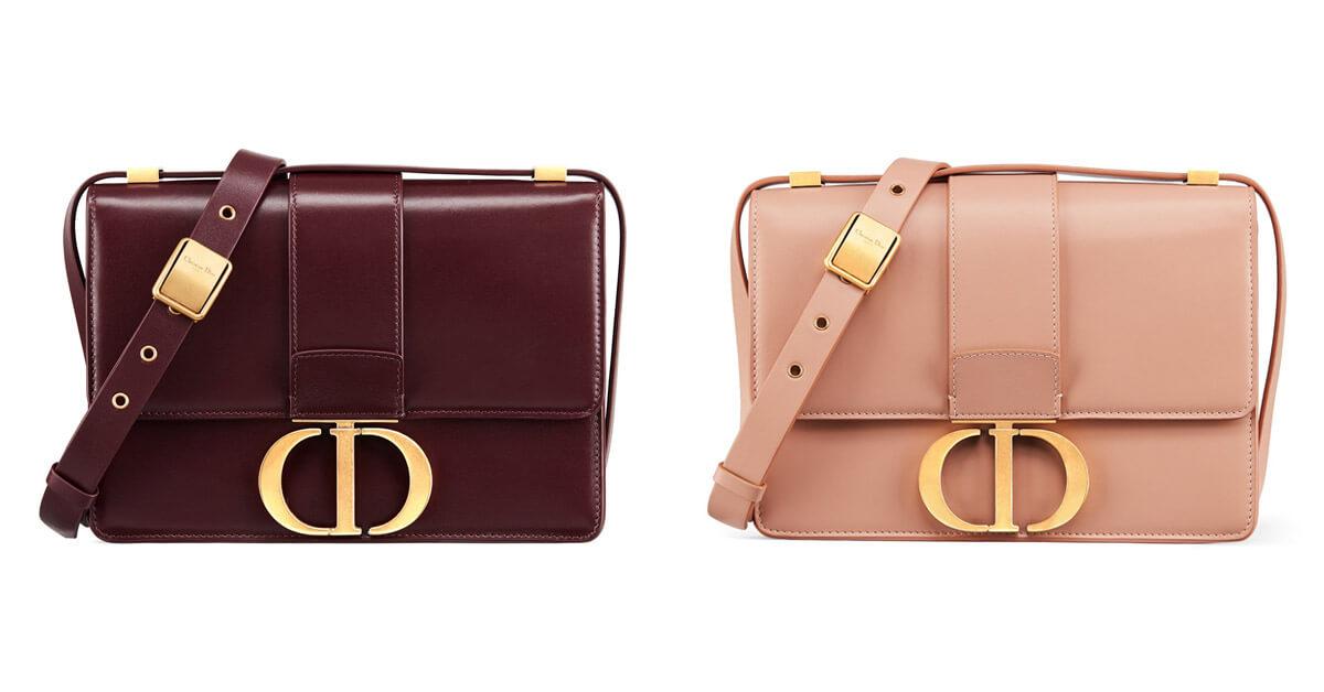 (左)酒紅色霧面小牛皮包,NT$ 120,000、(右)粉膚色霧面小牛皮包,NT$ 120,000。
