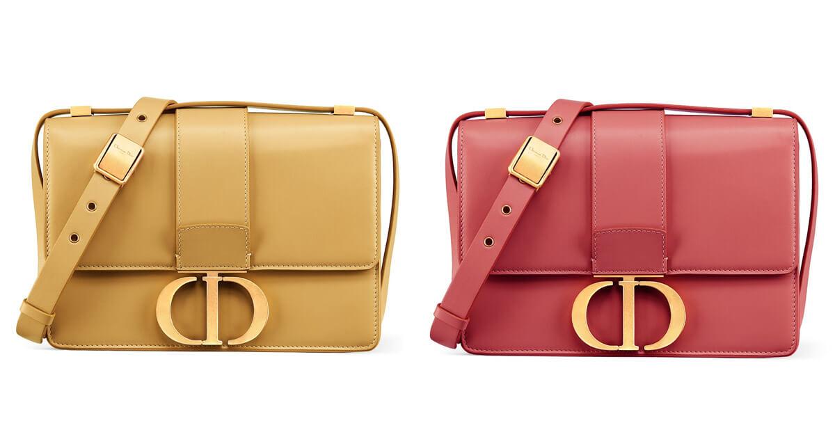 (左)芥末黃霧面小牛皮包,NT$ 120,000、(右)粉紅色霧面小牛皮包,NT$ 120,000。