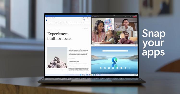 微軟用戶有福了!Windows 11系統5大看點,極簡設計、多頁面模板太吸睛,舊用戶竟然還能免費升級!-1