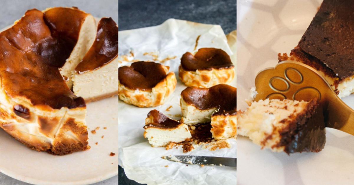 懶人料理推薦「巴斯克乳酪蛋糕」!氣炸零失敗3步驟輕鬆搞定,在家也能享用皇室下午茶-2