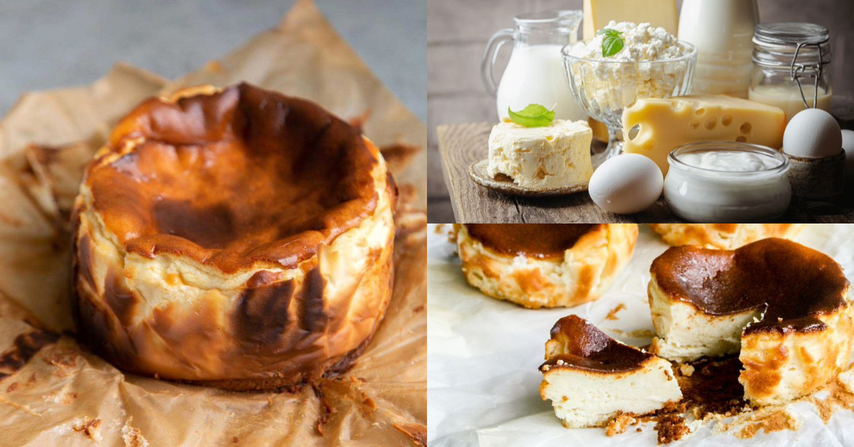 懶人料理推薦「巴斯克乳酪蛋糕」!氣炸零失敗3步驟輕鬆搞定,在家也能享用皇室下午茶-0