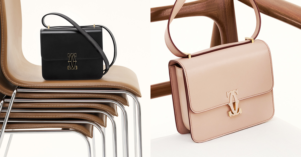 2021下半年最夯IT bag!卡地亞「double c」肩揹包,雙c釦頭配上繽紛色彩引起搶購風潮-2