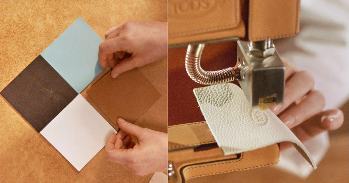 Tod's包包把廢物變黃金!這款「撞色格紋包」真的太吸睛,回收皮革拼接環保又時髦-2