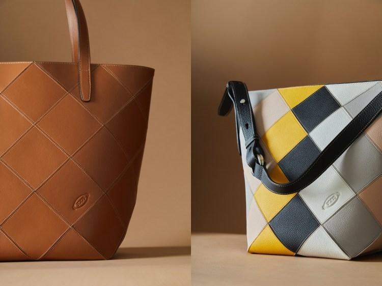 Tod's包包把廢物變黃金!這款「撞色格紋包」真的太吸睛,回收皮革拼接環保又時髦-4