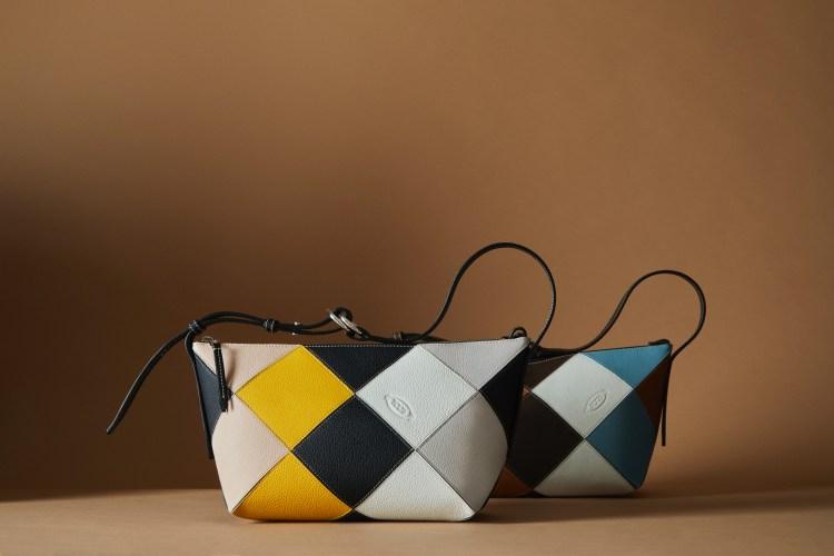 Tod's包包把廢物變黃金!這款「撞色格紋包」真的太吸睛,回收皮革拼接環保又時髦-5