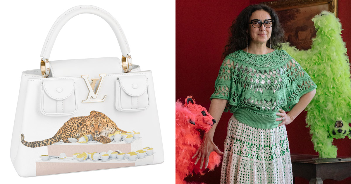 LV經典「Capucines」包款藝術上身!一筆一畫全手工,特別限量系列Gigi Hadid、凱特王妃都愛-6