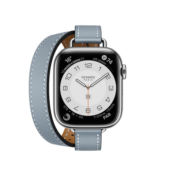 Hermès第七代AppleWatch錶帶登場!亞麻藍、萊姆黃真的美翻,經典「皮革鏈帶」奢華品味再升級-0