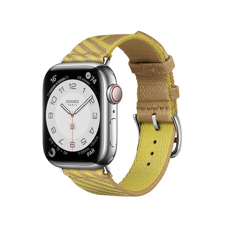 Hermès第七代AppleWatch錶帶登場!亞麻藍、萊姆黃真的美翻,經典「皮革鏈帶」奢華品味再升級-3