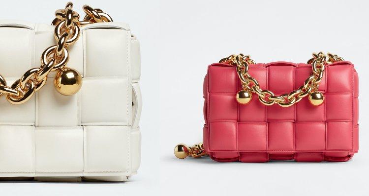 孫芸芸美包再+1!針織洋裝搭這款BV「珠珠鏈帶」卡帶包,桃粉色一秒抓住眾人目光-3