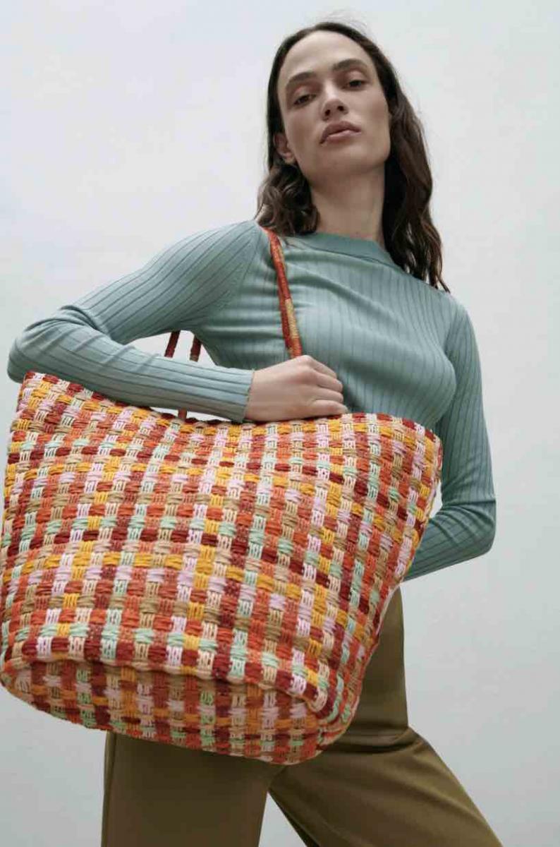 Zara線上購物推薦5款編織包!串珠、荷葉邊托特包、手提包...全部1800元有找!-1