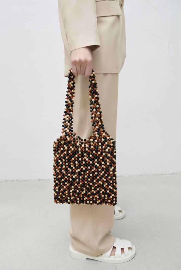 Zara線上購物推薦5款編織包!串珠、荷葉邊托特包、手提包...全部1800元有找!-2