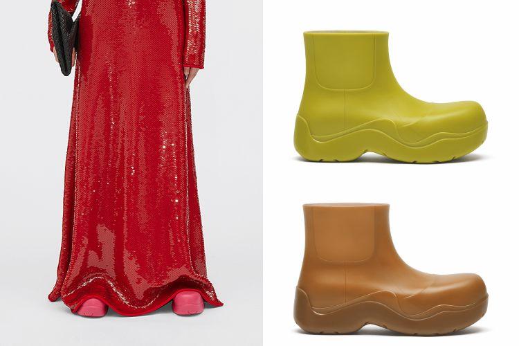 BV雲朵包、方頭鞋已不夠看!全新厚底雨鞋,酪梨、莓果色太可口-3