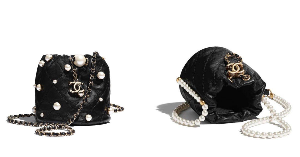 Chanel水桶包也要有「珍珠」!稜格紋、雙C Logo、粉色 ,2021女孩最想要的包就是它!-4