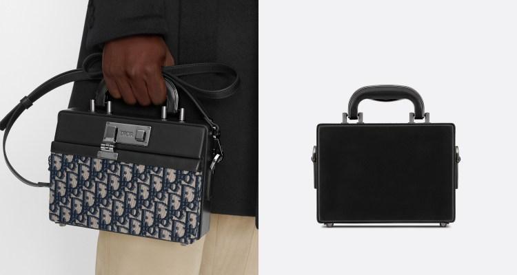 Dior老花再推新款! Lock Handbag迷你公事「小方包」登場,中性設計男女通吃-1