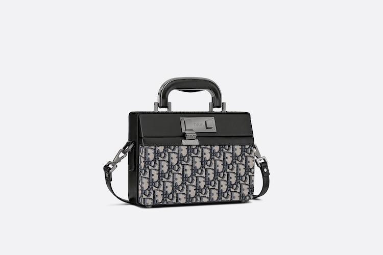 Dior老花再推新款! Lock Handbag迷你公事「小方包」登場,中性設計男女通吃-0
