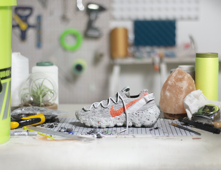 Nike換掉經典包裝?用廢棄回收再製推出全新「Space Hippie 」系列鞋款!-0