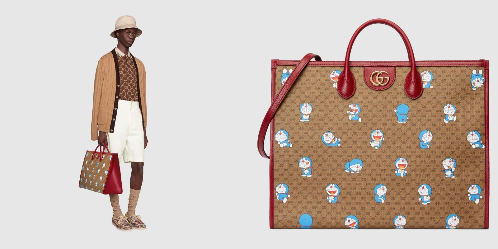Gucci哆啦A夢聯名正式登場!水桶包 、托特包到皮夾,不是可愛,是可愛到死!-10