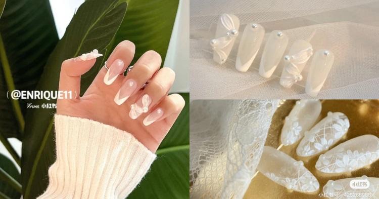 2021新娘美甲推薦!5款「白色系」光療造型,法式蕾絲、水晶冰塊...這款男人看到就想娶回家-0