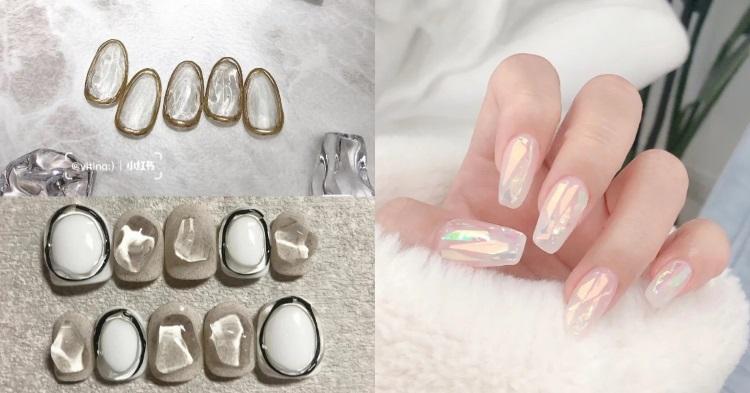 2021新娘美甲推薦!5款「白色系」光療造型,法式蕾絲、水晶冰塊...這款男人看到就想娶回家-1