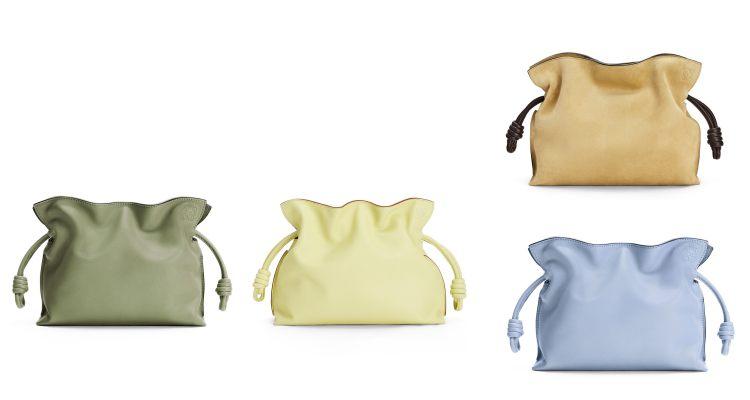 Loewe Puzzle包之後再推「束口袋包」 !酪梨綠、寶寶藍到萊姆黃,名列品牌終年熱賣款行列!-4