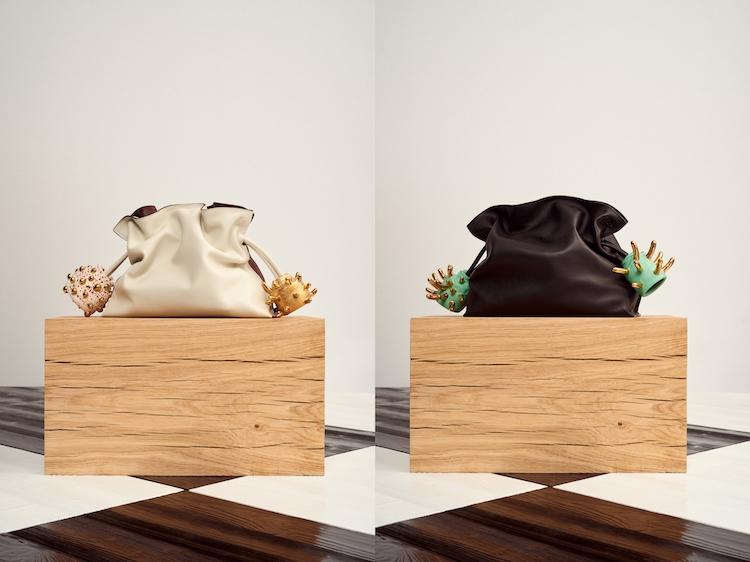 Loewe Puzzle包之後再推「束口袋包」 !酪梨綠、寶寶藍到萊姆黃,名列品牌終年熱賣款行列!-2