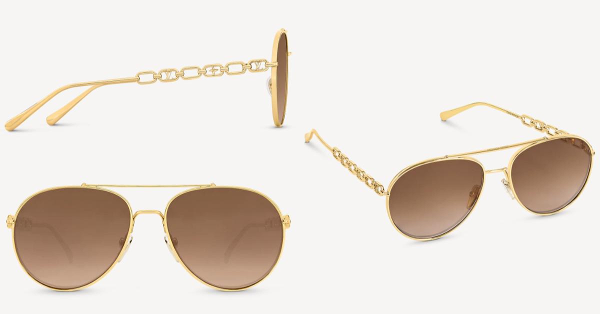 LV太陽眼鏡推薦這5款!防疫保護眼睛必備,「Dunes」復古撞色設計太搶眼-3