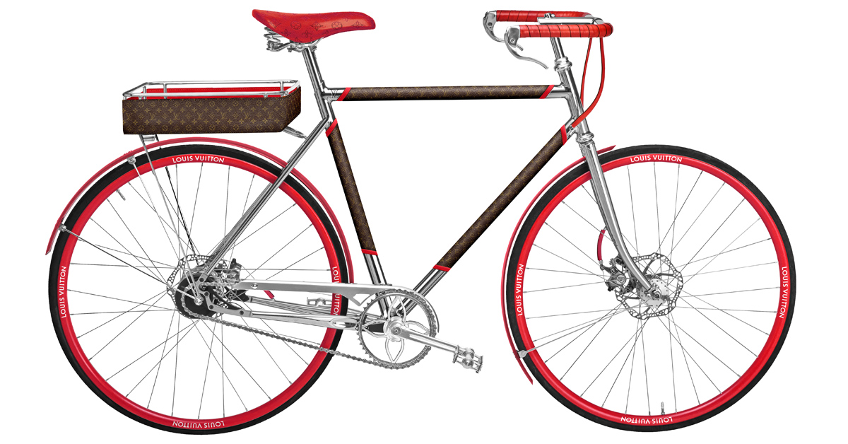 LV老花跳上自行車 !巴黎百年老廠手工打造,96萬一台騎到路上太浪費啦!-6