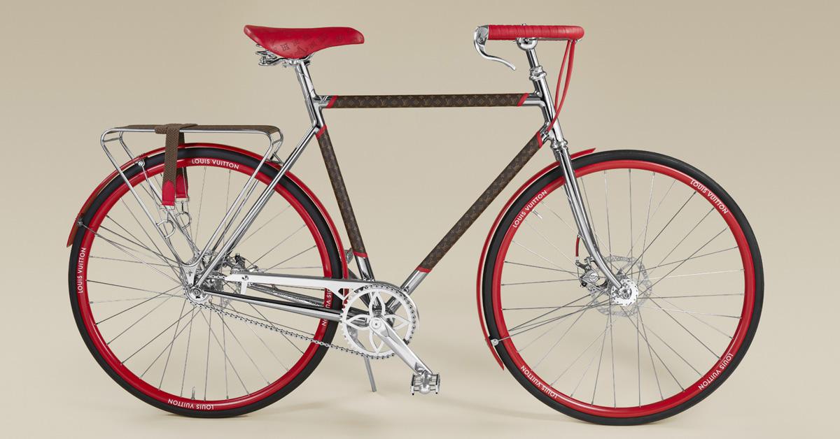 LV老花跳上自行車 !巴黎百年老廠手工打造,96萬一台騎到路上太浪費啦!-1