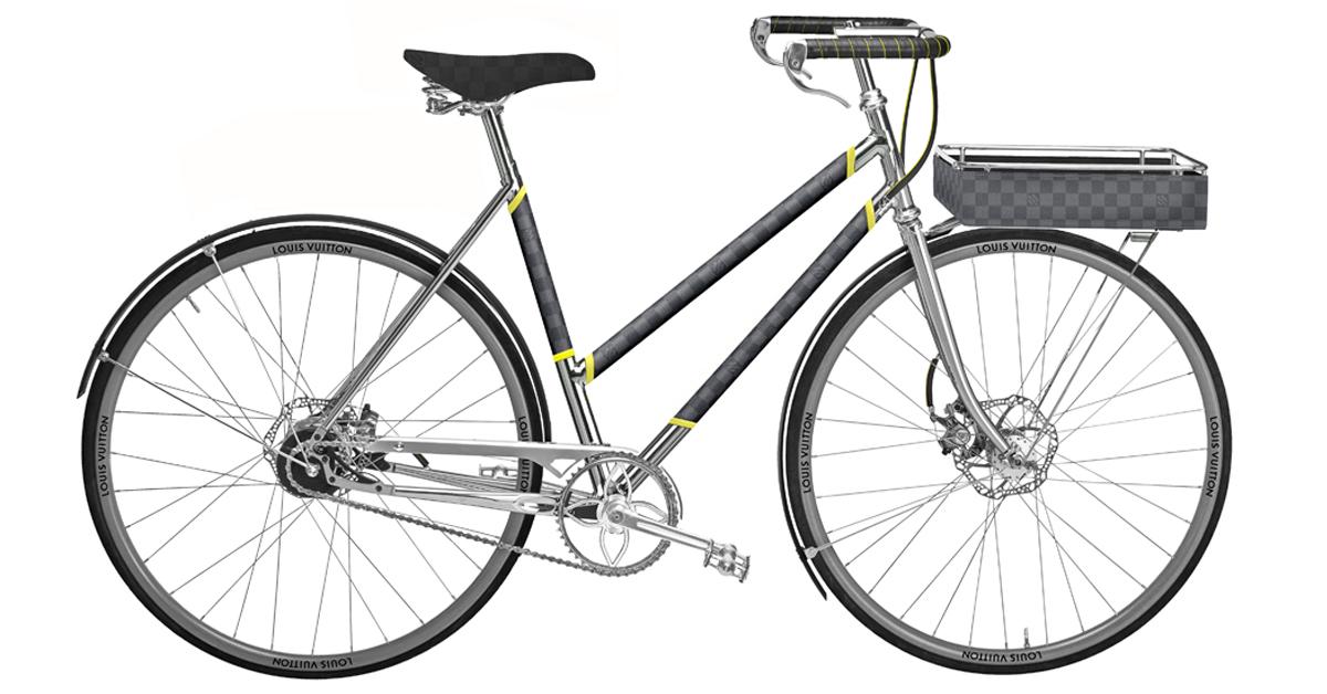 LV老花跳上自行車 !巴黎百年老廠手工打造,96萬一台騎到路上太浪費啦!-7