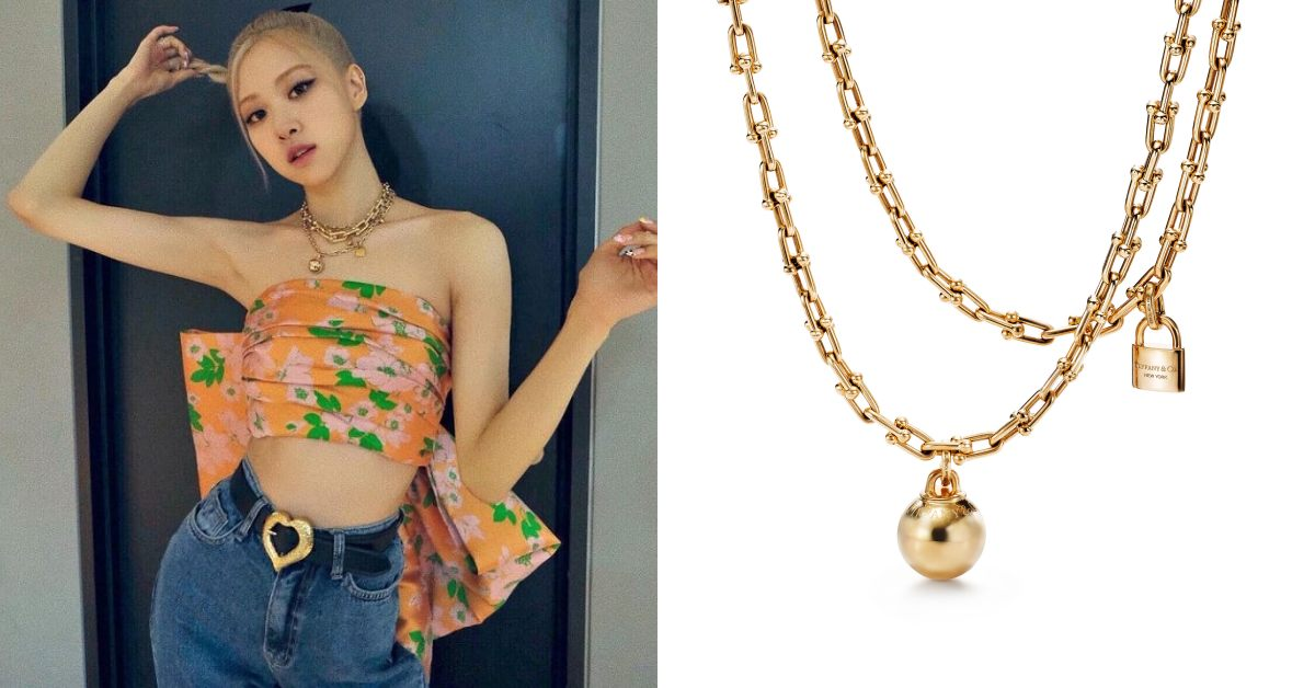 Tiffany珠寶推薦「HardWare」系列!南韓史上最暢銷女歌手,BLACKPINK Rosé穿搭必備這條金項鍊-1
