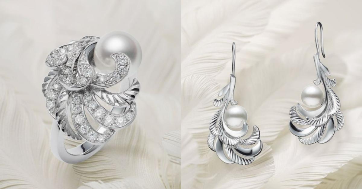 "Mikimoto珍珠混搭""羽毛""!珍貴寶石與金雕工藝,從聖誕閃亮到2021年!-1"